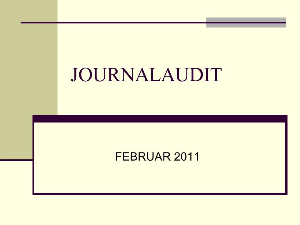 JOURNALAUDIT FEBRUAR 2011