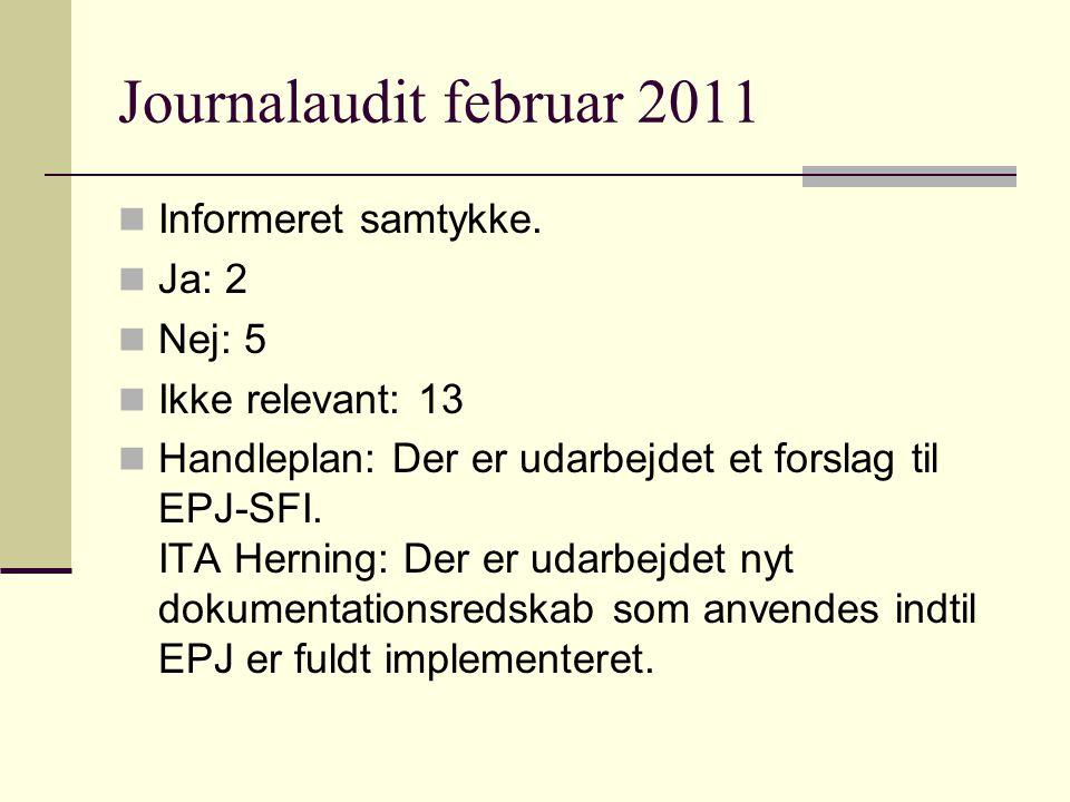 Journalaudit februar 2011 Informeret samtykke.