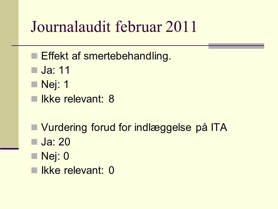 Journalaudit februar 2011 Effekt af smertebehandling.