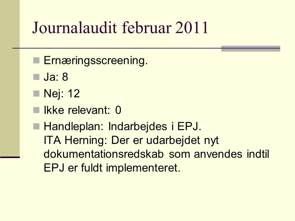 Journalaudit februar 2011 Ernæringsscreening.