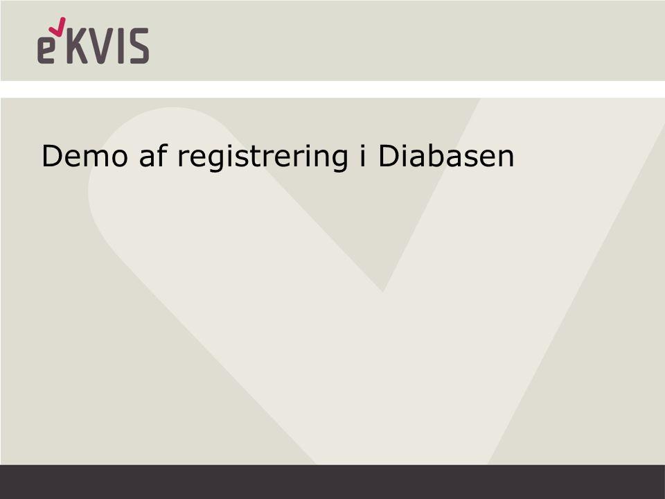 Demo af registrering i Diabasen