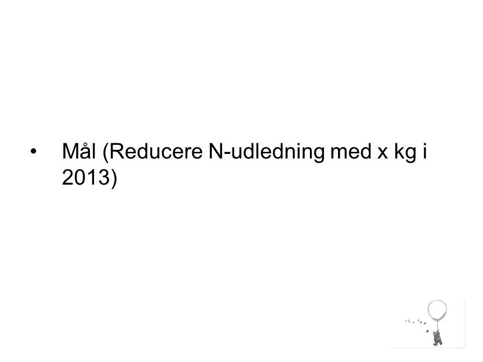 Mål (Reducere N-udledning med x kg i 2013)