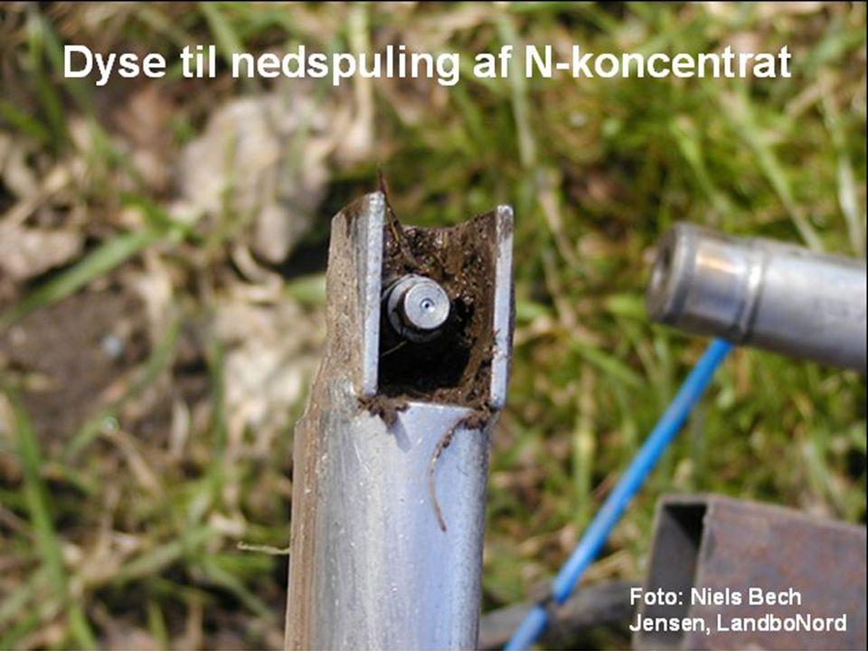 Dyse til nedspuling af N-koncentrat Foto: Niels Bech Jensen, LandboNord