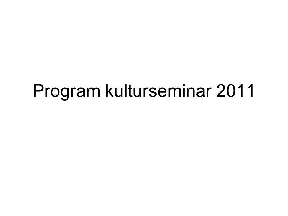 Program kulturseminar 2011
