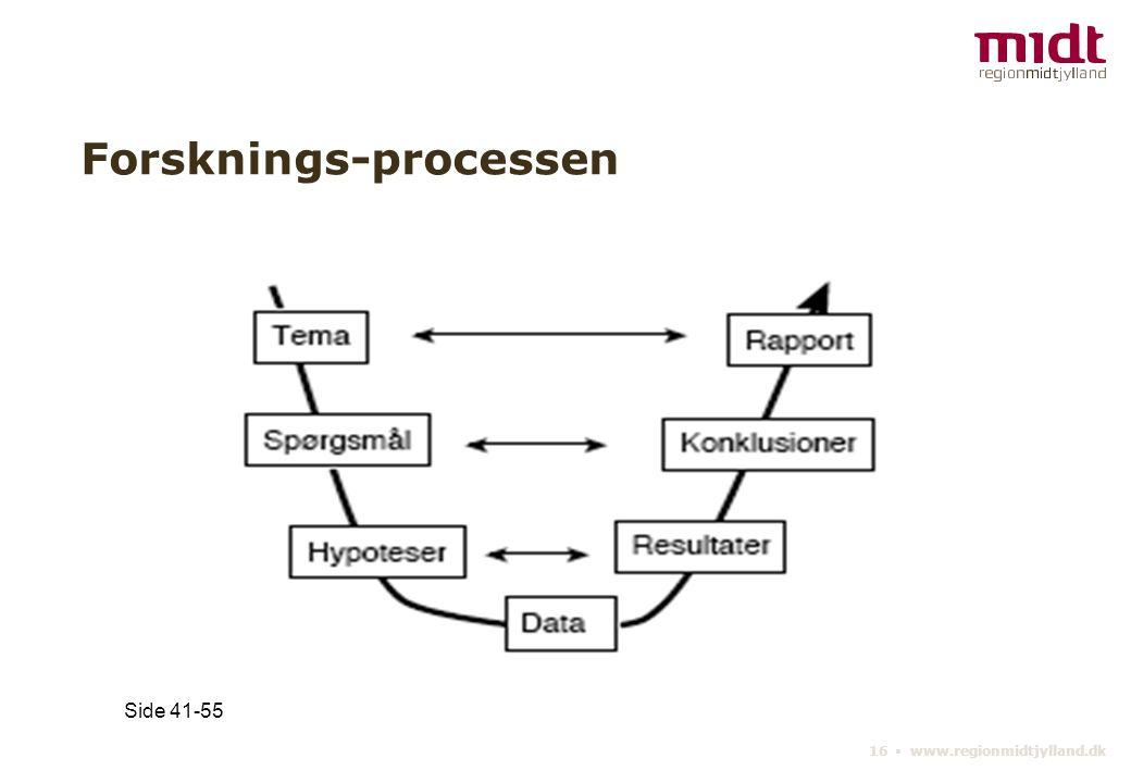 16 ▪ www.regionmidtjylland.dk Forsknings-processen Side 41-55