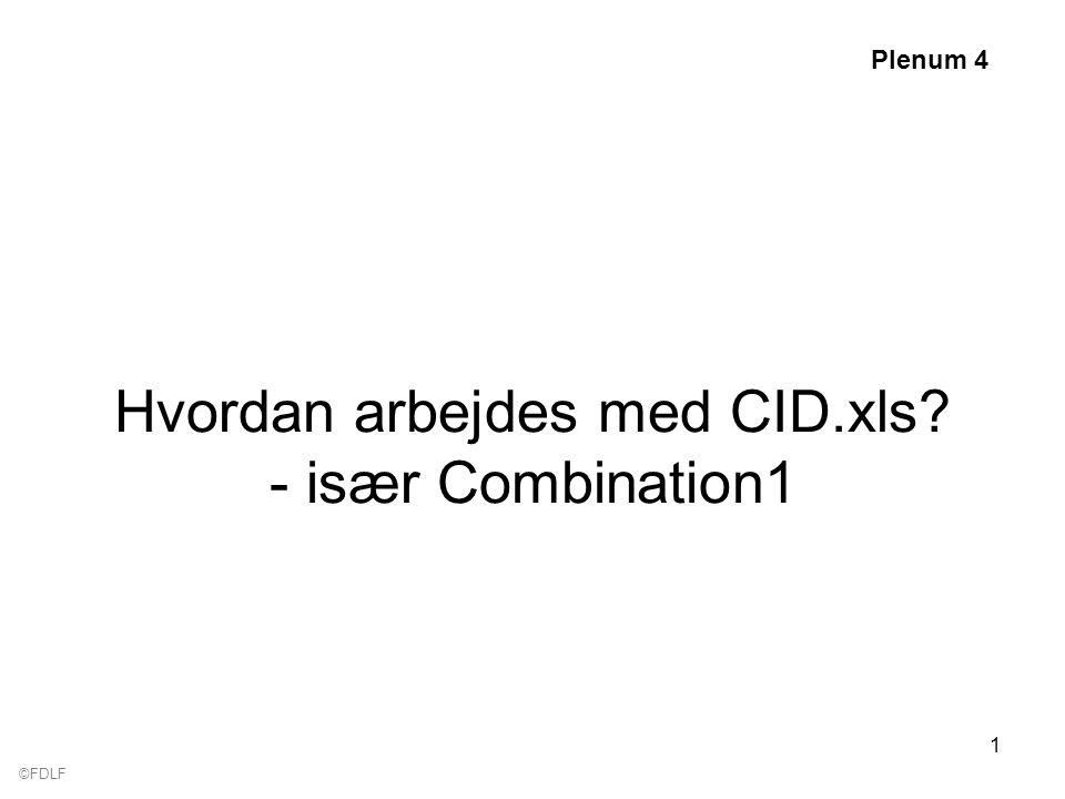 ©FDLF 1 Hvordan arbejdes med CID.xls - især Combination1 Plenum 4