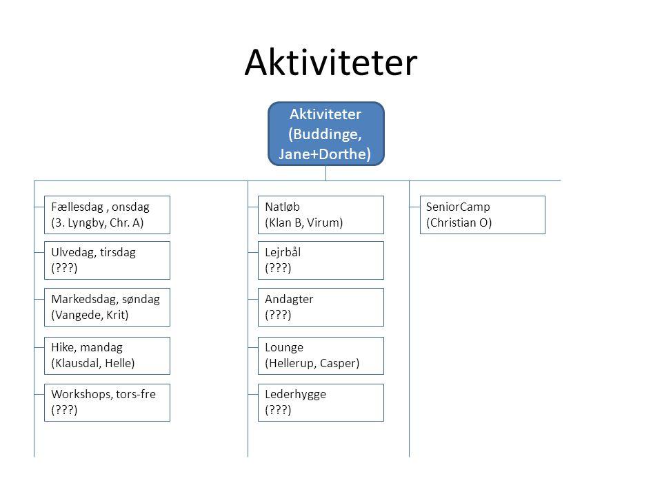 Aktiviteter (Buddinge, Jane+Dorthe) Fællesdag, onsdag (3.