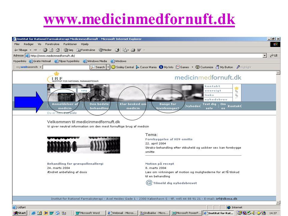 www.medicinmedfornuft.dk