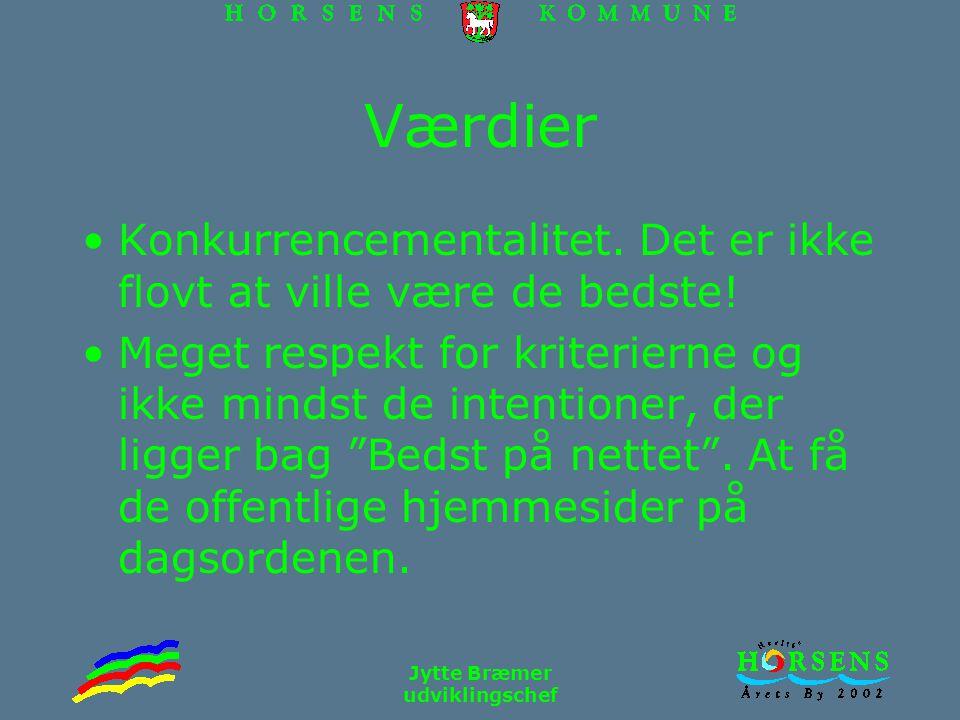 Jytte Bræmer udviklingschef Værdier Konkurrencementalitet.