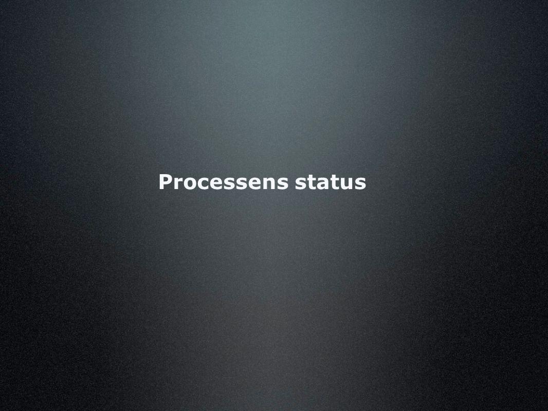 Processens status