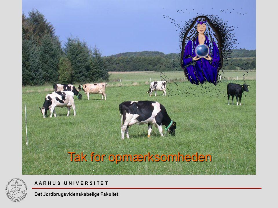A A R H U S U N I V E R S I T E T Det Jordbrugsvidenskabelige Fakultet Tak for opmærksomheden