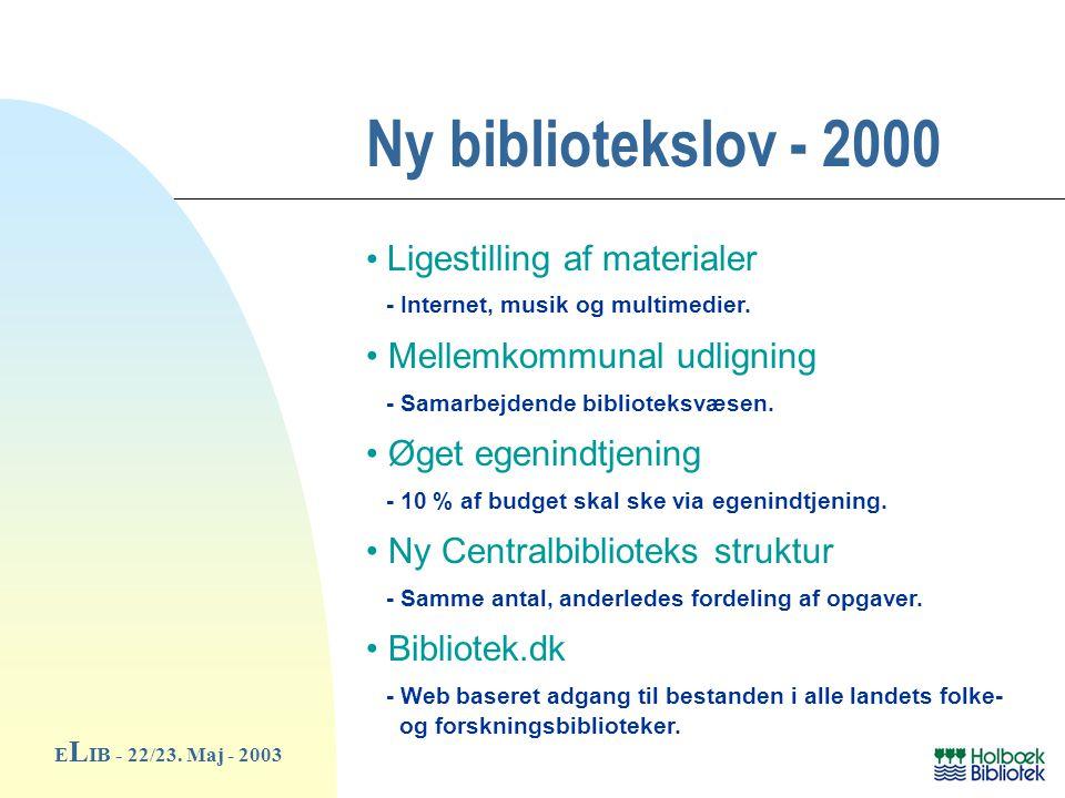 Ny bibliotekslov - 2000 E L IB - 22/23.