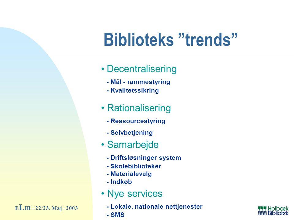Biblioteks trends E L IB - 22/23.