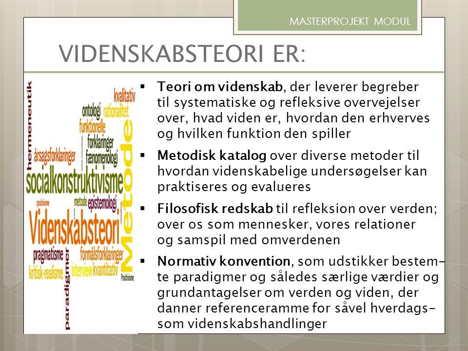 ANBEFALELSESVÆRDIG LITTERATUR OM VIDENSKABSTEORI & METODE