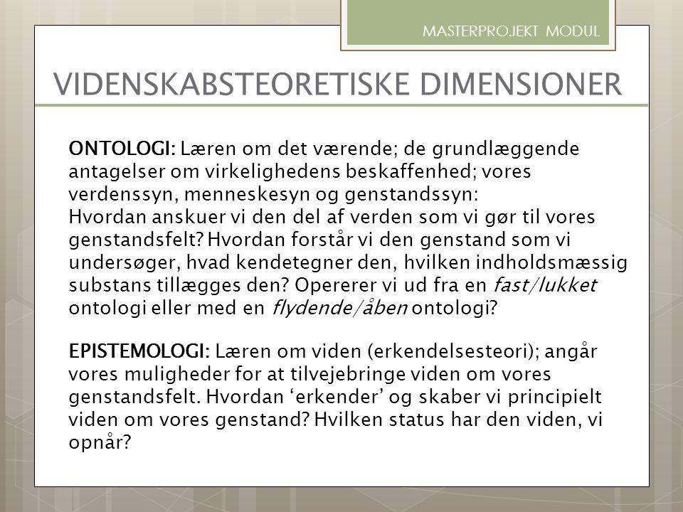 METODOLOGI: Læren om metode; om fremstilling af og forskrifter for den 'rette' metodiske tilgang indenfor en given videnskab.