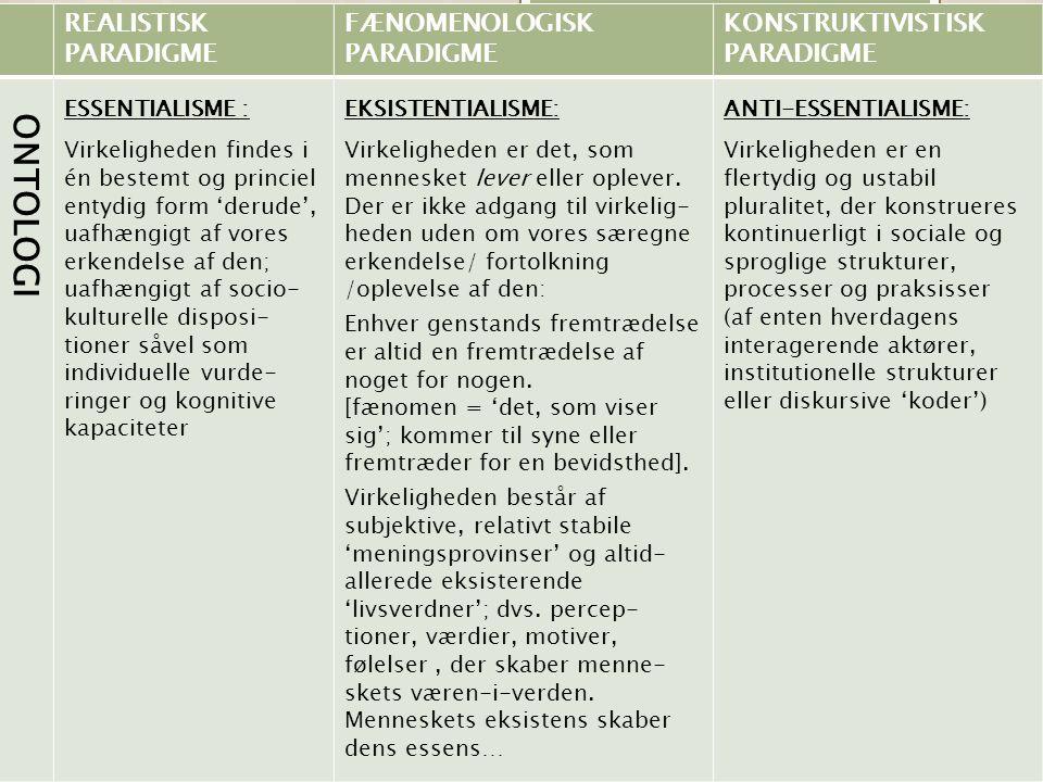 METODISKE BEGRUNDELSER  Ift.metodevalg: Hvorfor lige denne metode.