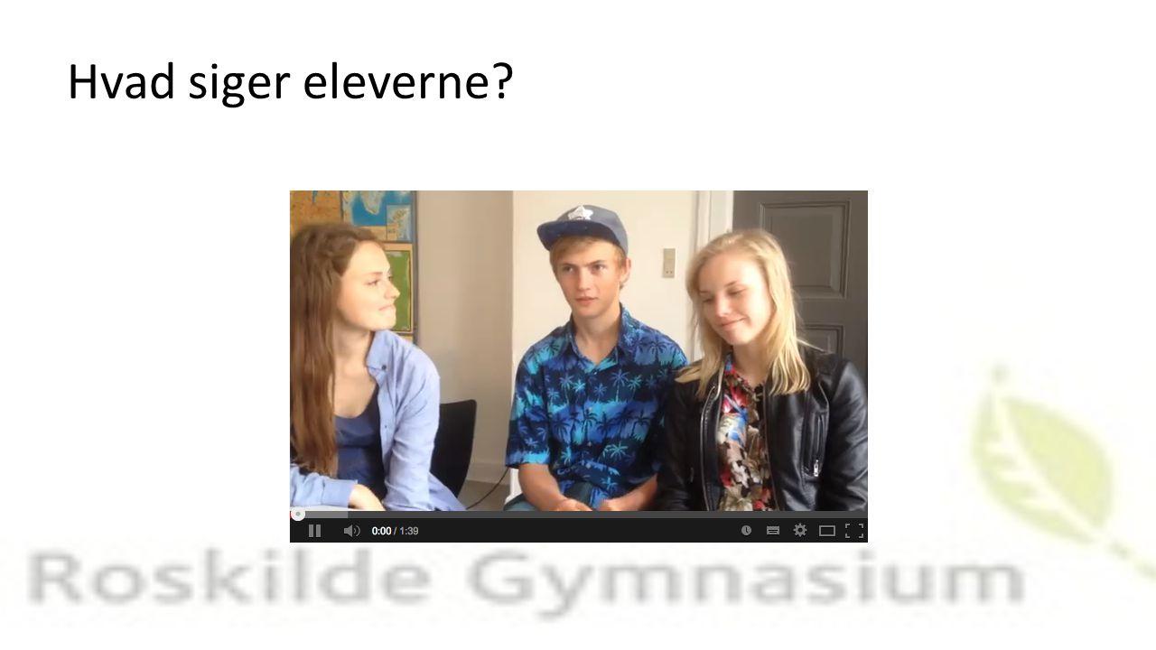 Hvad siger eleverne