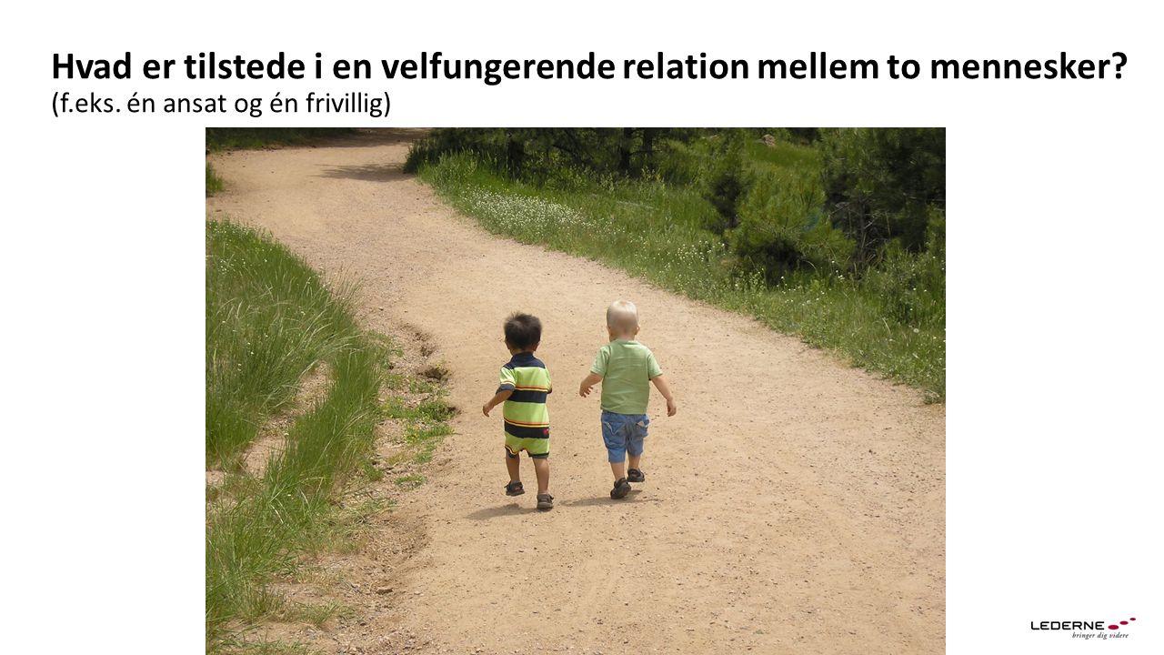 Hvad er tilstede i en velfungerende relation mellem to mennesker (f.eks. én ansat og én frivillig)