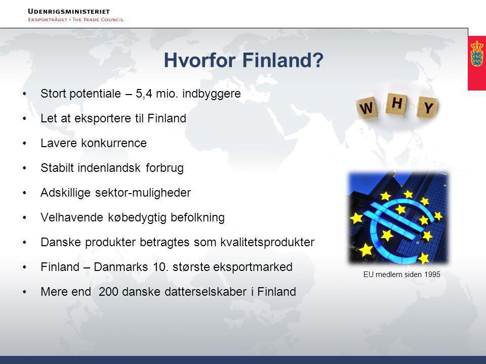 Hvorfor Finland. Stort potentiale – 5,4 mio.