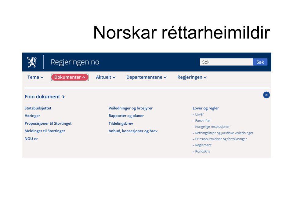 Norskar réttarheimildir