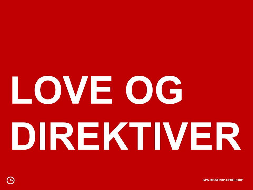 15GPS, KISSERUP, CPHGROUP LOVE OG DIREKTIVER