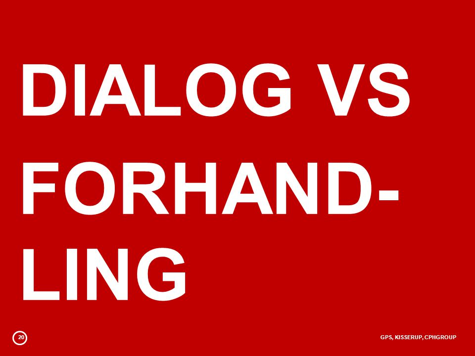 20GPS, KISSERUP, CPHGROUP DIALOG VS FORHAND- LING