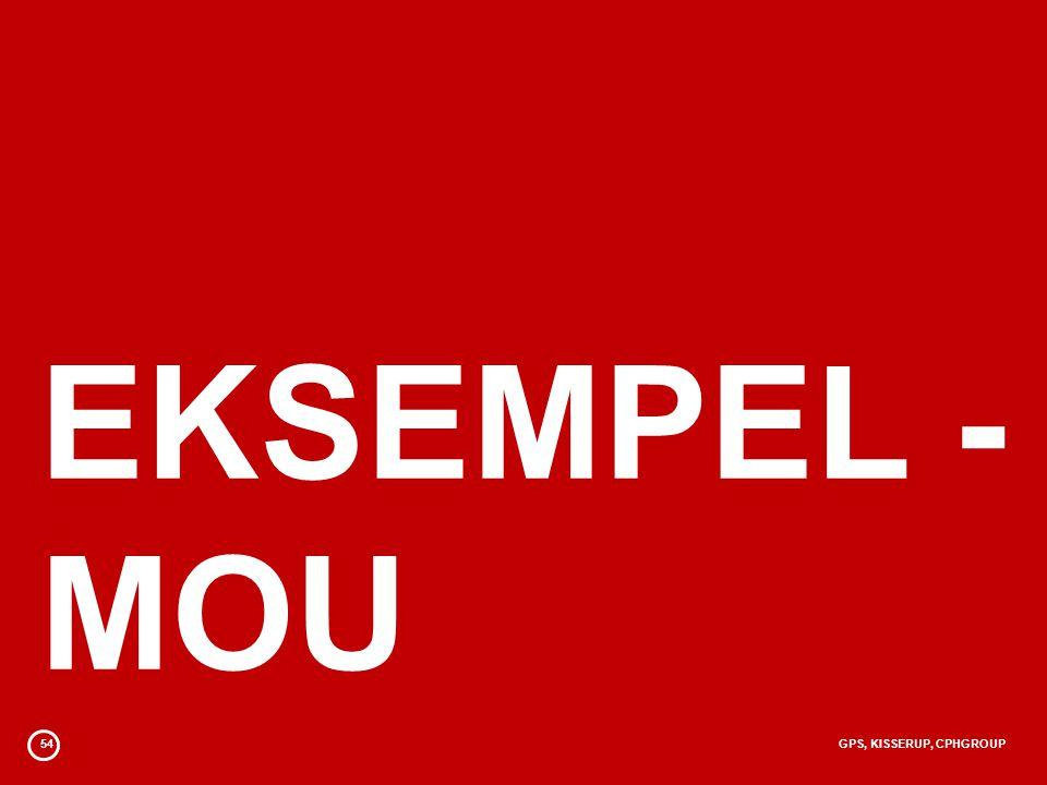 54GPS, KISSERUP, CPHGROUP EKSEMPEL - MOU
