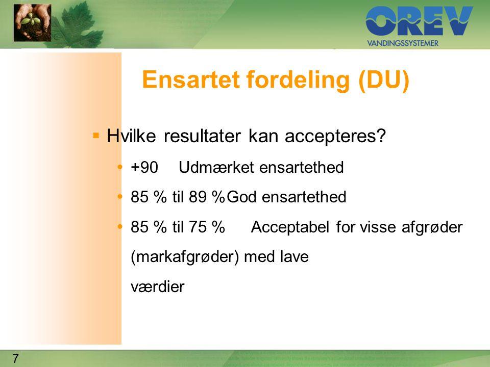 7 Ensartet fordeling (DU)  Hvilke resultater kan accepteres.