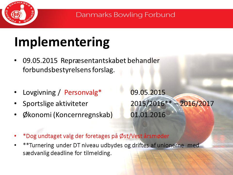 Implementering 09.05.2015Repræsentantskabet behandler forbundsbestyrelsens forslag.
