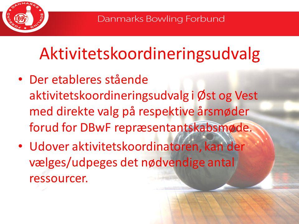Aktivitetskoordineringsudvalg Der etableres stående aktivitetskoordineringsudvalg i Øst og Vest med direkte valg på respektive årsmøder forud for DBwF repræsentantskabsmøde.