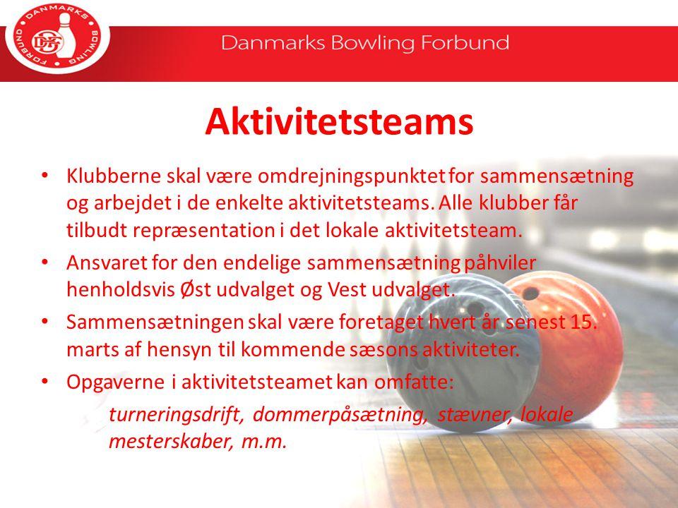 Aktivitetsteams Klubberne skal være omdrejningspunktet for sammensætning og arbejdet i de enkelte aktivitetsteams.