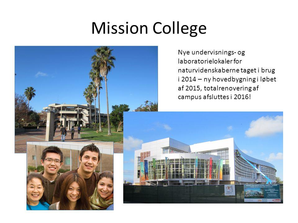 Mission College Nye undervisnings- og laboratorielokaler for naturvidenskaberne taget i brug i 2014 – ny hovedbygning i løbet af 2015, totalrenovering af campus afsluttes i 2016!