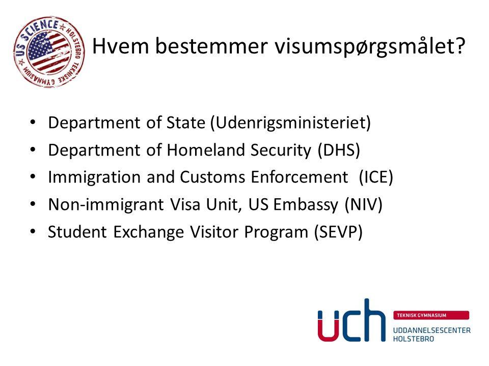 Hvem bestemmer visumspørgsmålet.