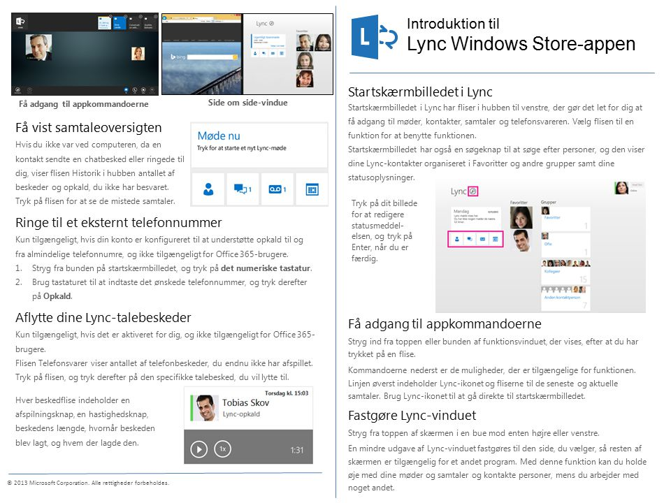 Introduktion til © 2013 Microsoft Corporation. Alle rettigheder forbeholdes.