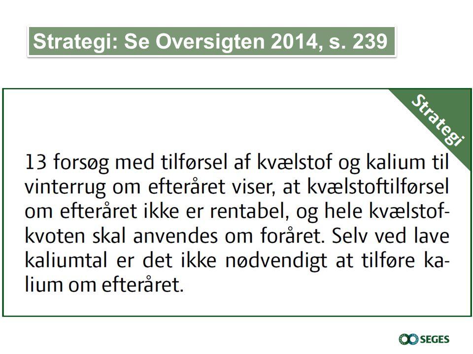 Strategi: Se Oversigten 2014, s. 239