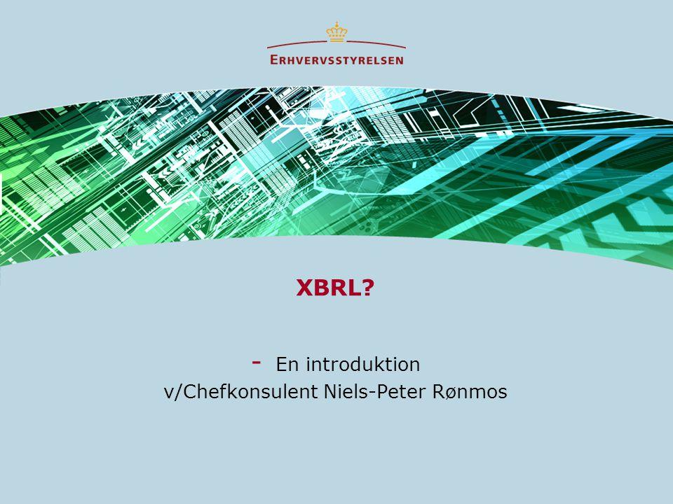 XBRL - En introduktion v/Chefkonsulent Niels-Peter Rønmos
