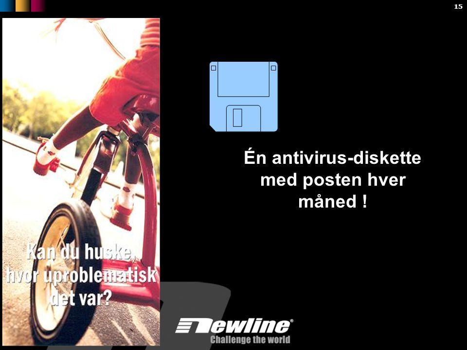 15 Én antivirus-diskette med posten hver måned !