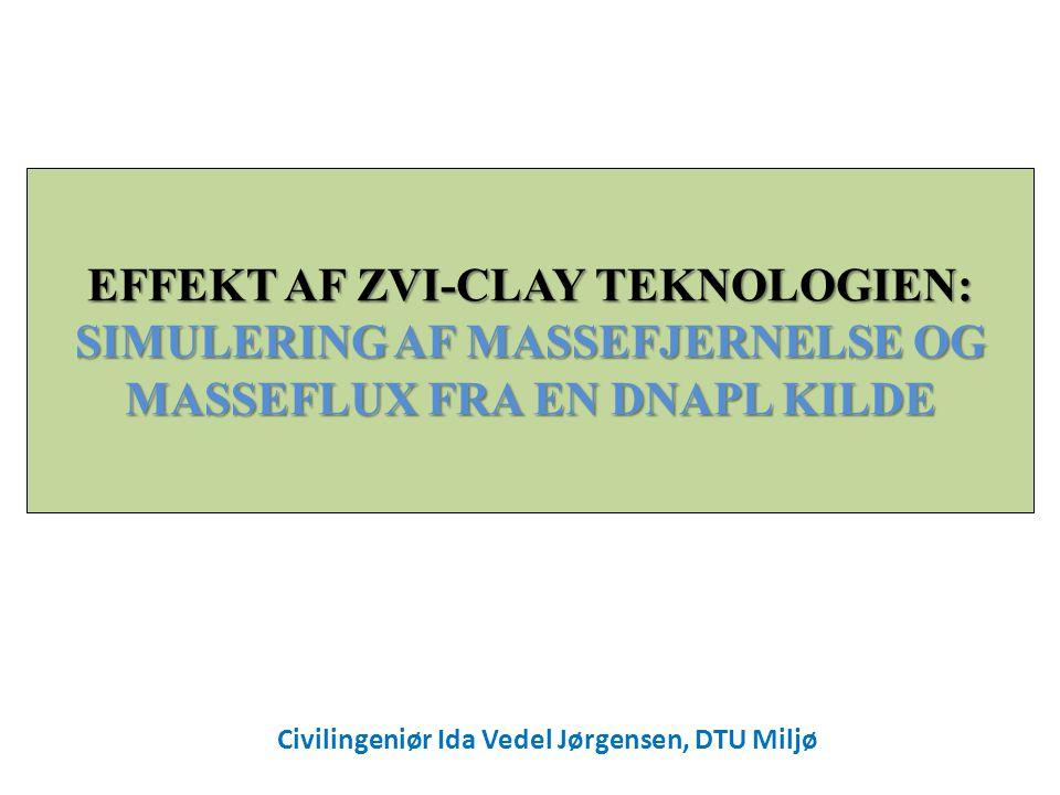 EFFEKT AF ZVI-CLAY TEKNOLOGIEN: SIMULERING AF MASSEFJERNELSE OG MASSEFLUX FRA EN DNAPL KILDE Civilingeniør Ida Vedel Jørgensen, DTU Miljø
