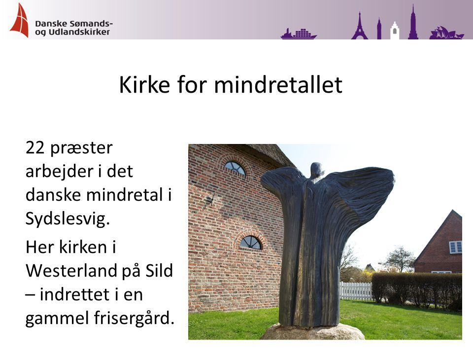 22 præster arbejder i det danske mindretal i Sydslesvig.