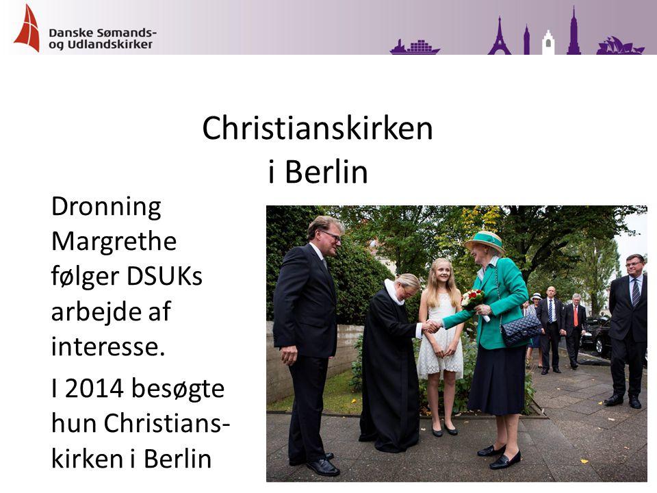 Dronning Margrethe følger DSUKs arbejde af interesse.