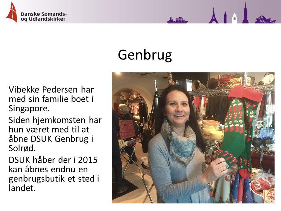 Vibekke Pedersen har med sin familie boet i Singapore.