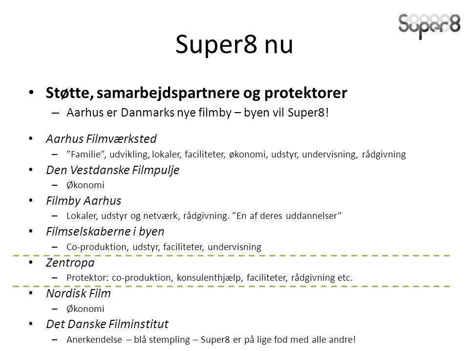 Super8 nu Støtte, samarbejdspartnere og protektorer – Aarhus er Danmarks nye filmby – byen vil Super8.