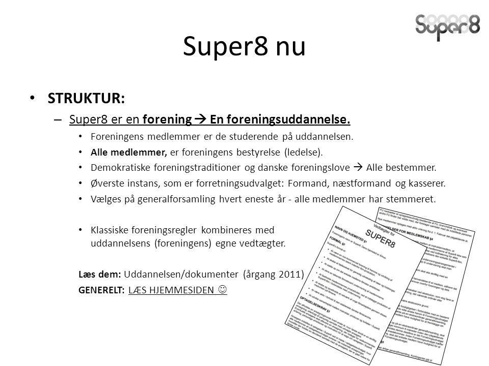 Super8 nu STRUKTUR: – Super8 er en forening  En foreningsuddannelse.