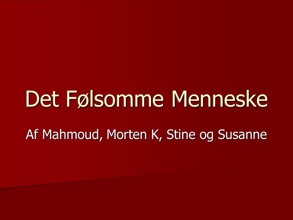 Det Følsomme Menneske Af Mahmoud, Morten K, Stine og Susanne