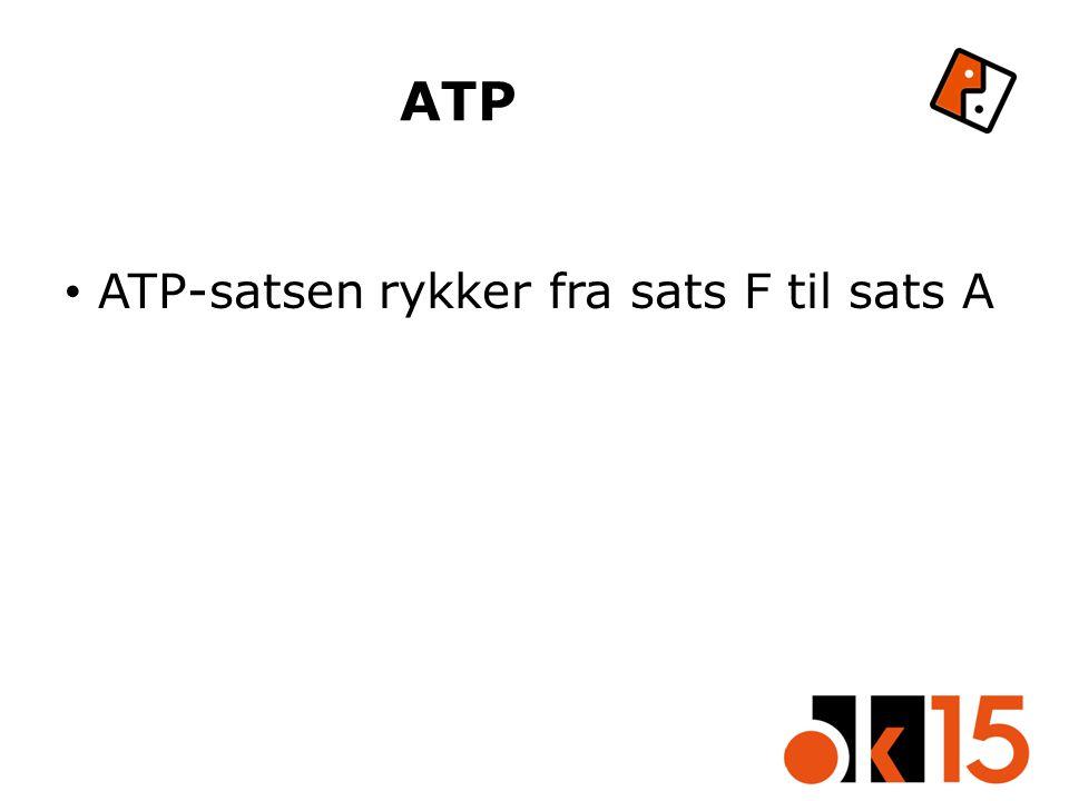 ATP ATP-satsen rykker fra sats F til sats A