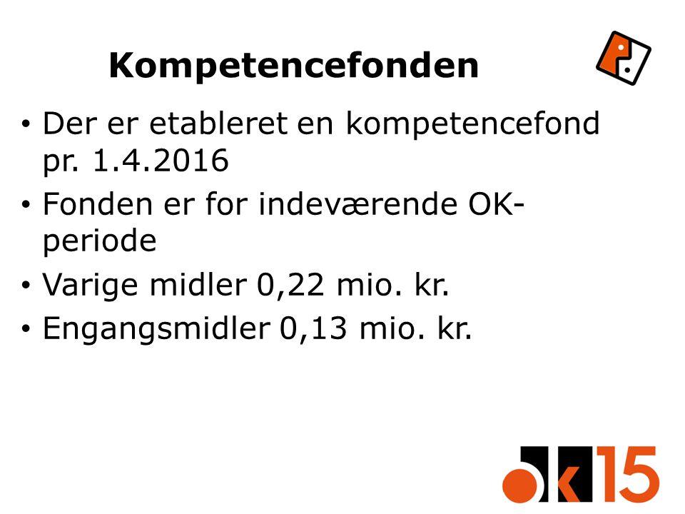 Kompetencefonden Der er etableret en kompetencefond pr.