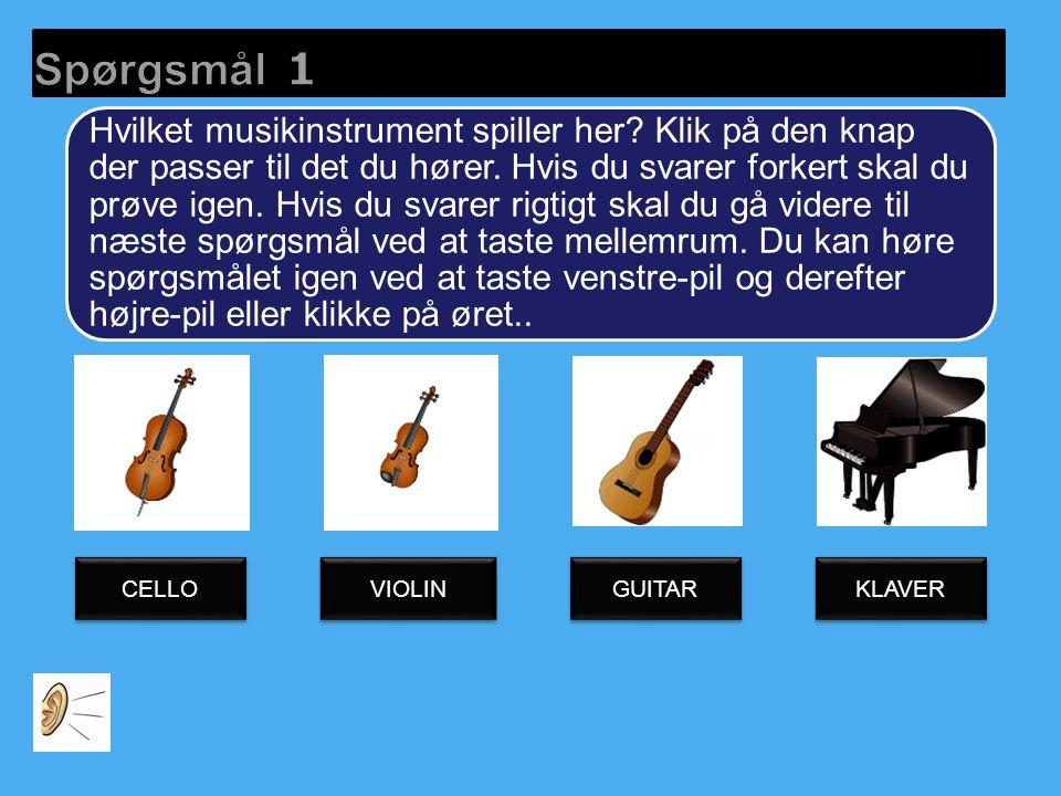 Her spiller instrumenterne en anden melodi.