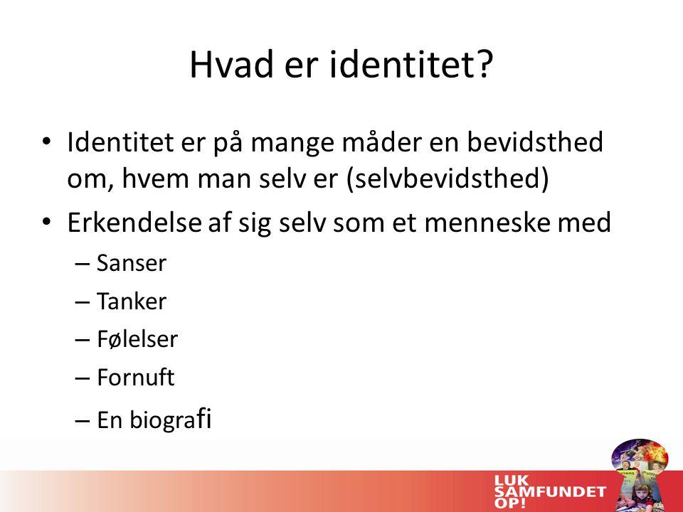 Hvad er identitet.