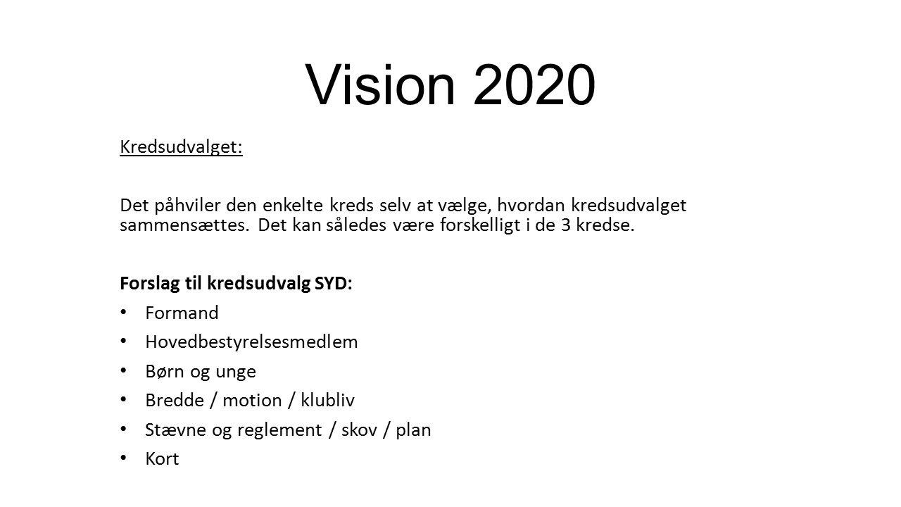 Vision 2020 Kredsudvalget: Det påhviler den enkelte kreds selv at vælge, hvordan kredsudvalget sammensættes.