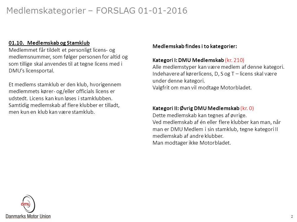 2 Medlemskategorier – FORSLAG 01-01-2016 01.10.